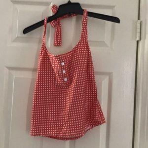 3 for $15🦋🦋 /Polka dot bathing suit halter top
